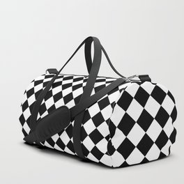 Chessboard 18x18 rotated 45 40 pixels Duffle Bag