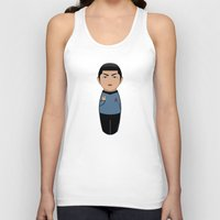 spock Tank Tops featuring Kokeshi Spock by Pendientera