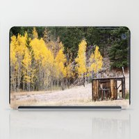 cabin iPad Cases featuring Fall Cabin by Vanessa Stickler