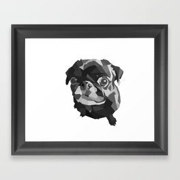 Pug Geometric art Black pugs Dog portrait Pet Framed Art Print