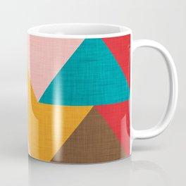 Kilim Chevron pink yellow Coffee Mug