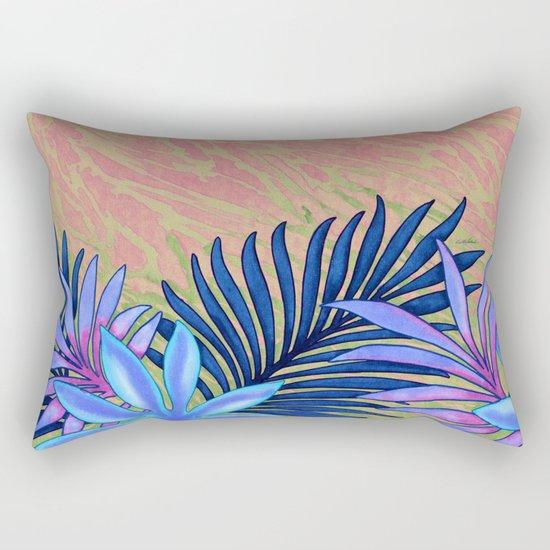 A Run Through the Jungle Blues Rectangular Pillow