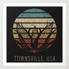 Townsville, USA Art Print