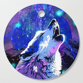 WOLF MOON AND SHOOTING STARS Cutting Board