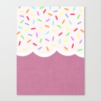 sprinkles Canvas Prints featuring Sprinkles by Glanoramay