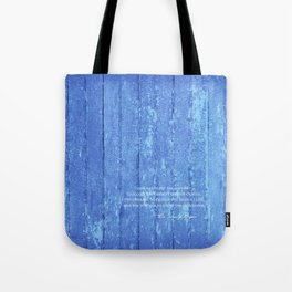 SERENITY PRAYER: BLUE BARN Tote Bag