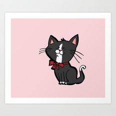 Happy Kitten Art Print