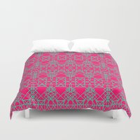 shield Duvet Covers featuring Shield by pandaliondeath