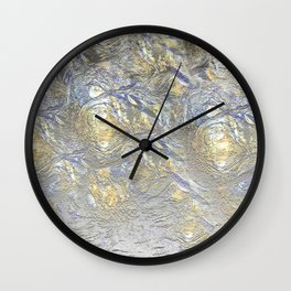 Silver Gold Foil Wall Clock