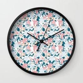 Messy Spring Garden Wall Clock