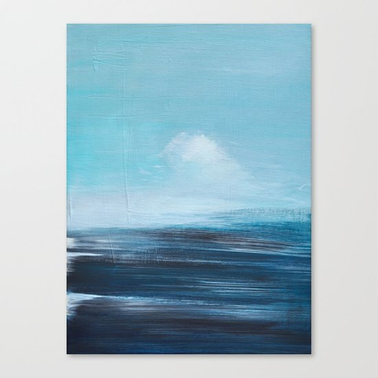 abstract surreal seascape Canvas Print