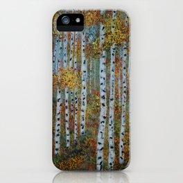 Last Hurrah, Aspen Tree Painting iPhone Case