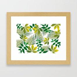Junge Leaf pattern Framed Art Print