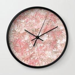Coral Foliage Wall Clock