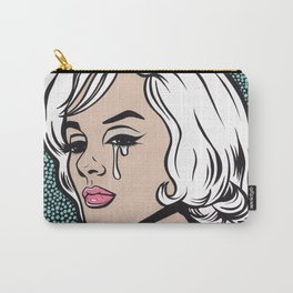 Blonde Marilyn Crying Comic Girl Carry-All Pouch