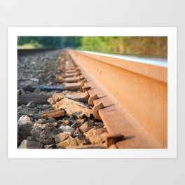 Trails with the Trains Art Print