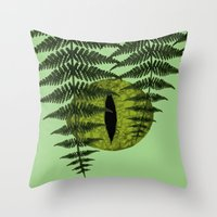 jurassic park Throw Pillows featuring Jurassic Park Minimalist by Kozicki Photography