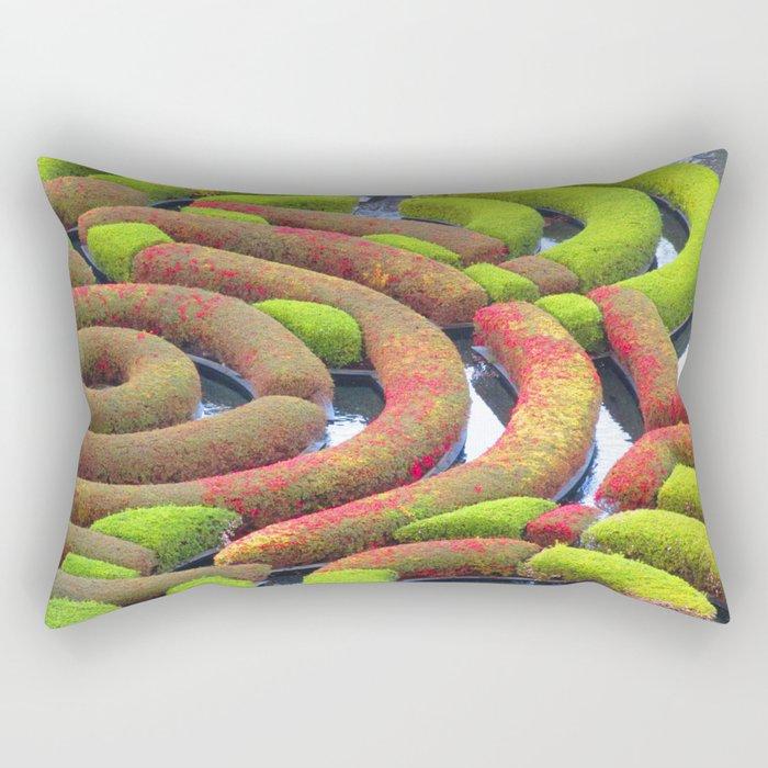 Azalea Circles Rectangular Pillow