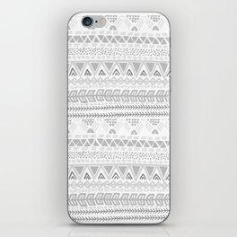 Grey aztec pattern iPhone Skin
