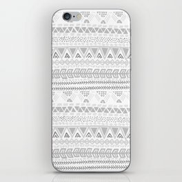 Grey aztec pattern iPhone Skin