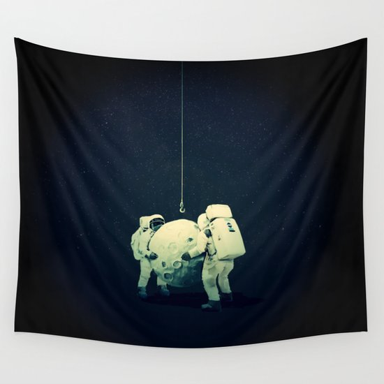 How To Hang Wall Tapestry moon hang wall tapestrylev man | society6