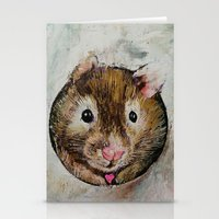 hamster Stationery Cards featuring Hamster Love by Michael Creese