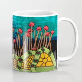 Bent Saplings Nature Center Architectural Illustration Coffee Mug