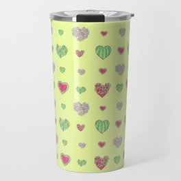 For the love of Watermelon - yellow background Travel Mug