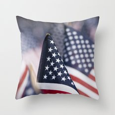 Flags in Repeat Throw Pillow