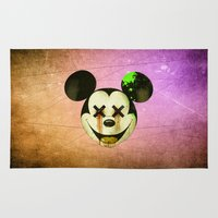 mickey Area & Throw Rugs featuring Mickey by wrong planet