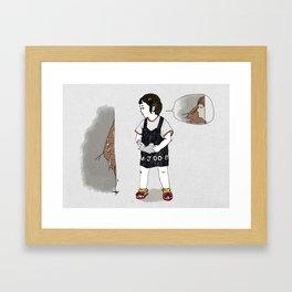 When I was a kid Framed Art Print
