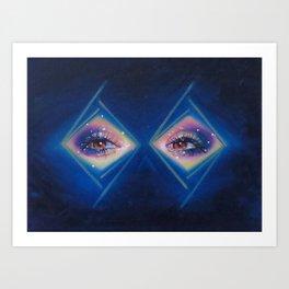 Diamonds in her eyes Art Print