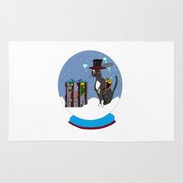 A Snow Globe with a Steampunk Kitty Rug