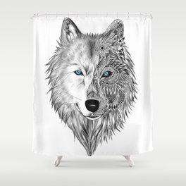 White Wolf Duschvorhang