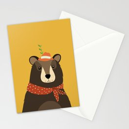 Brown Bear Print, Stationery Cards