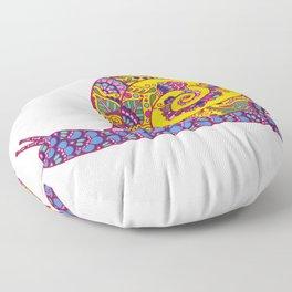 Colorful Snail Floor Pillow