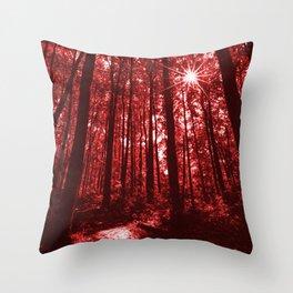 Shenandoah Red Throw Pillow