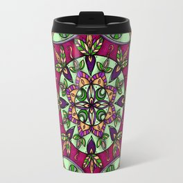Garden Leaves Mandala Travel Mug