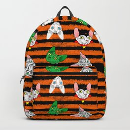 halloween sphynx on stripes (naked cats) Backpack