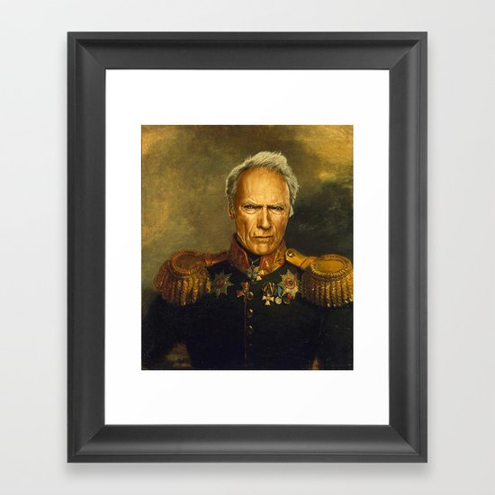 Clint Eastwood - replaceface Framed Art Print