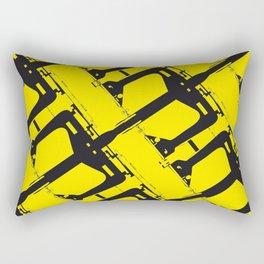 Yellow Maquinita Rectangular Pillow