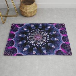 Mandala Flower Ultra Violet Art Rug