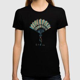 Folding Fan – Teal & Gold Palette T-shirt