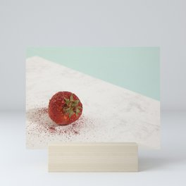 Pretty strawberry sequin Mini Art Print