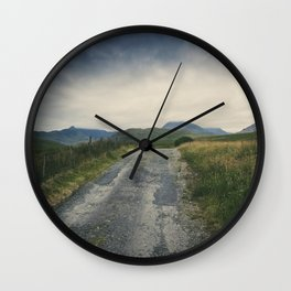 Mountain Panorama III Wall Clock
