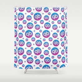 qiibee Pattern Dark Shower Curtain