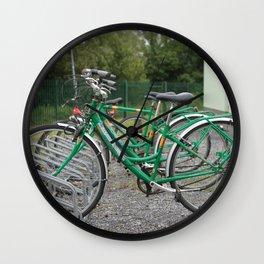 Green Bikes Wall Clock