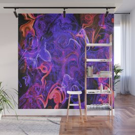 Purple Speckled Abstract Illustration Wall Mural