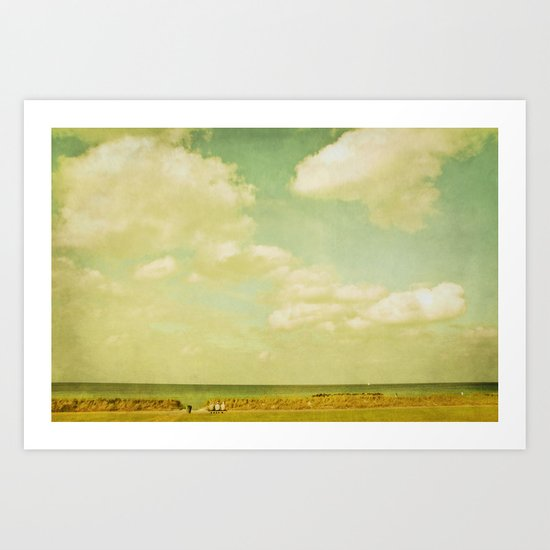 beach viewing Art Print