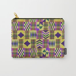 Kente Cloth // Blue-Violet & Goldenrod Carry-All Pouch